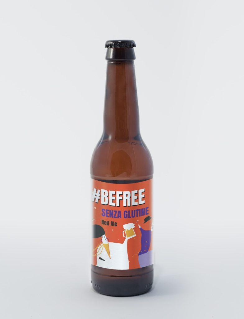 bottiglia di birra artigianale senza glutine ambrata #befree