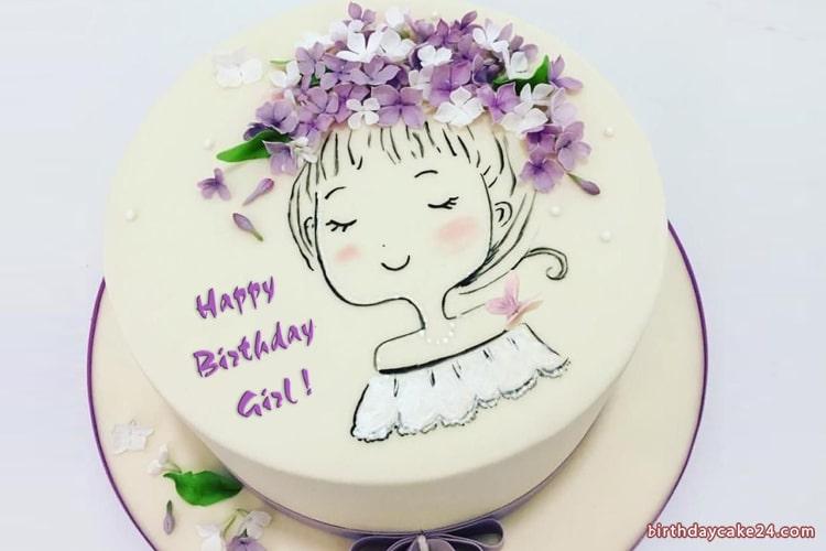 Write Name On Lovely Birthday Cakes For Women