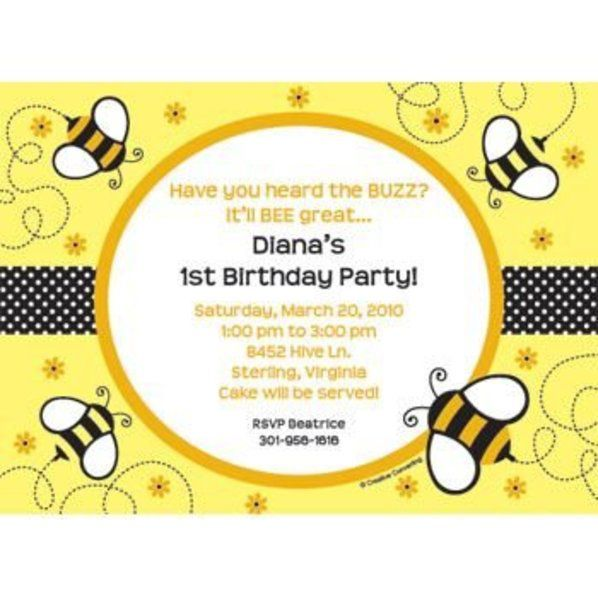 bumble bee personalized invitation each