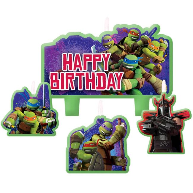 Ninja Turtles Mini Molded Birthday Candles (4 Pack) - Party Supplies