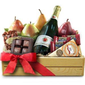 Champagne-chocolate-fruit-gift-Basket