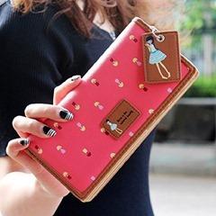 Fashion-Lady-Women-Long-Purse-Clutch-Zip-Bag