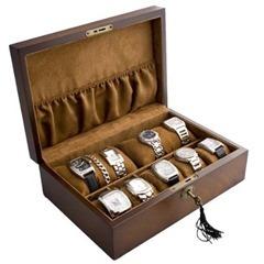 Vintage-Wood-Watch-Box-Display-Storage-Case