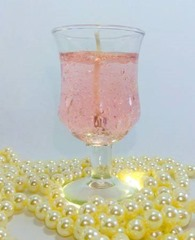 Coral Pink Tulip Glass Scented Gel Candle