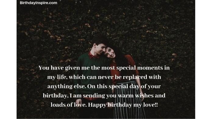 Heart winning birthday wishes for boyfriend