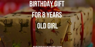 Birthday Gift For 8 Years Old Girl
