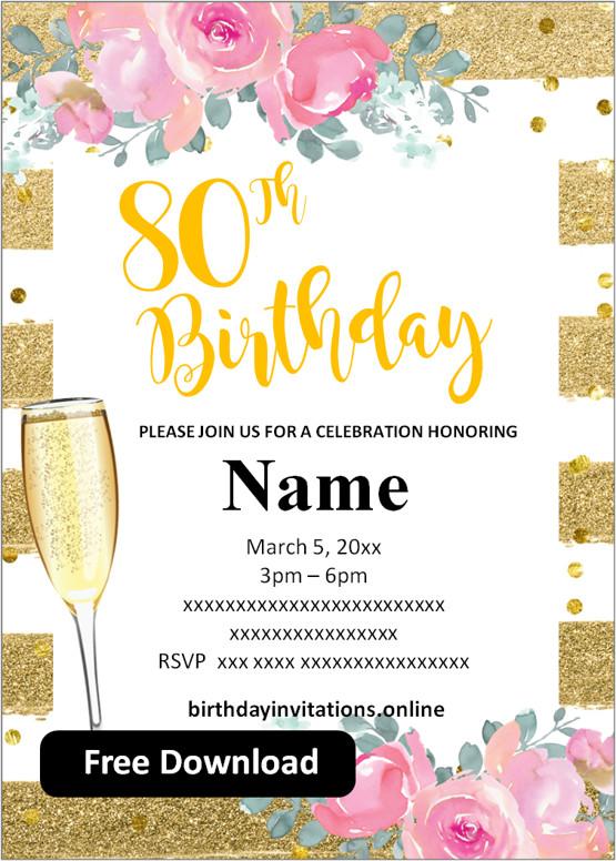 Free Printable 60th Birthday Invitations Templates Party Invitation
