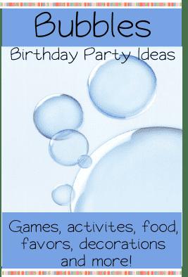 Bubble Theme Birthday Party Ideas