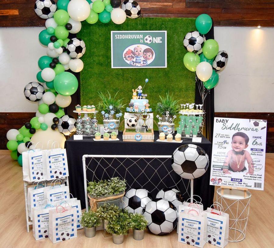 Soccer Themed First Birthday