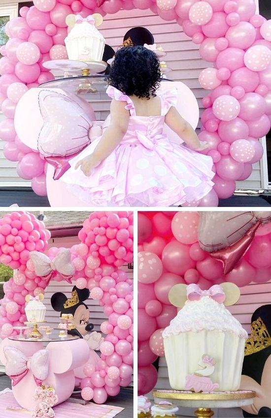 Sweet Pink Minnie Mouse 2nd Birthday Party