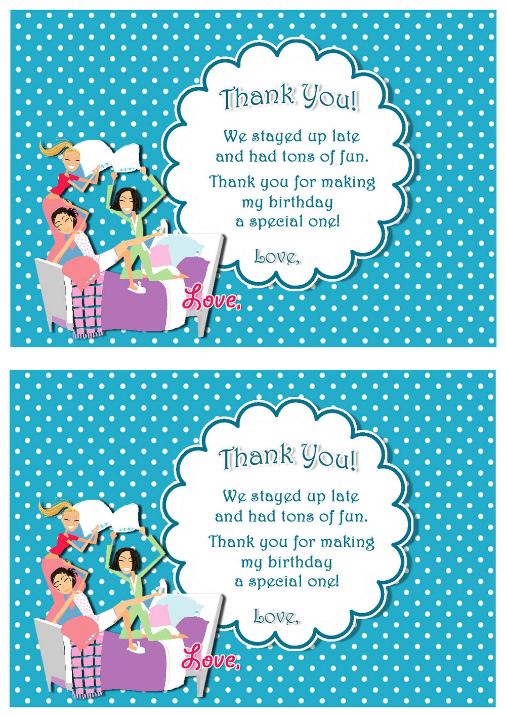 Birthday Party Invitations Print