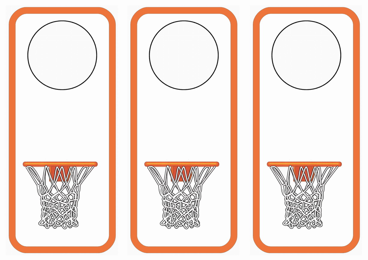 Basketball Door Hangers