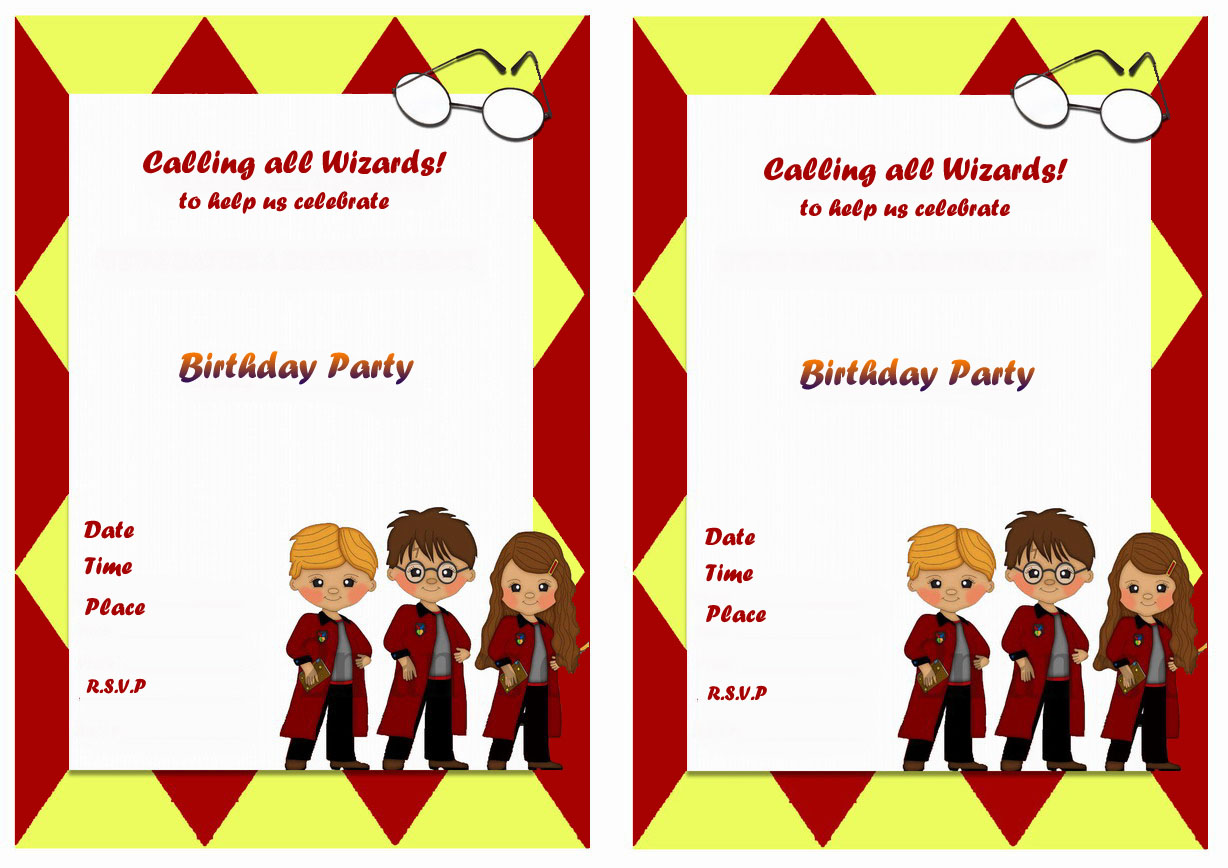 harry potter birthday invitations birthday printable