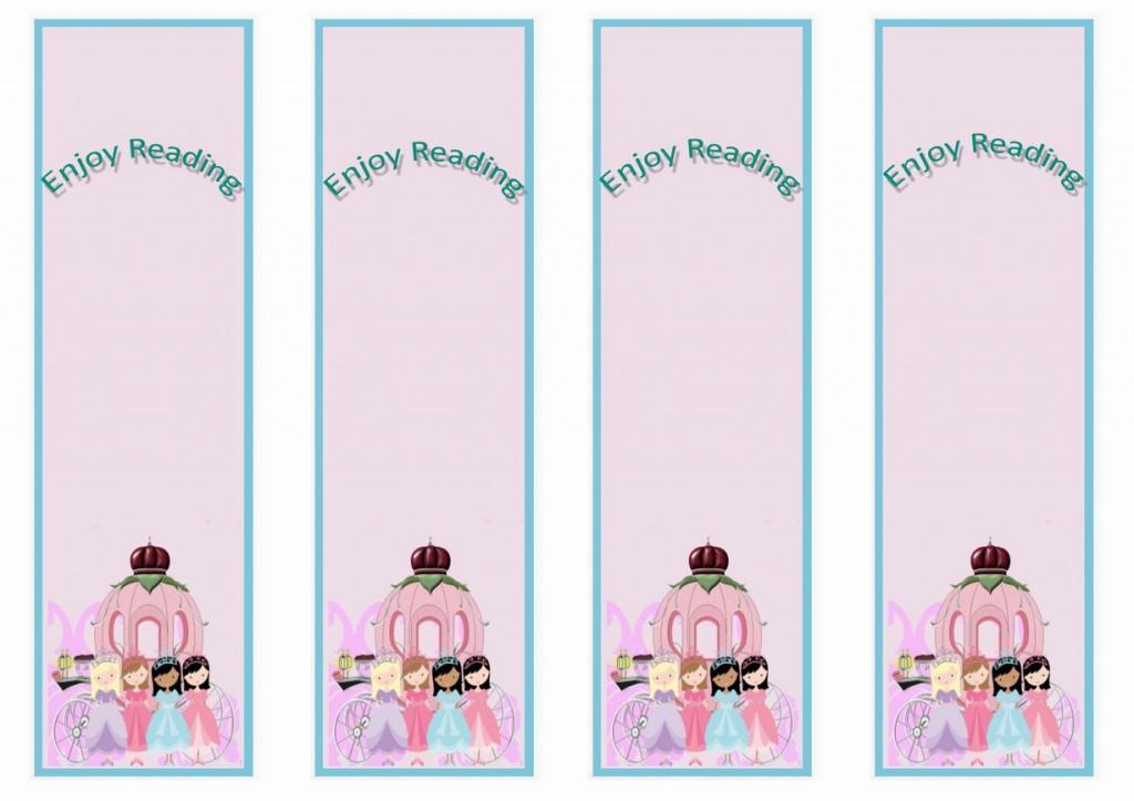 Princess Bookmarks Birthday Printable
