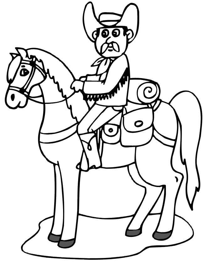 cowboy coloring pages  birthday printable