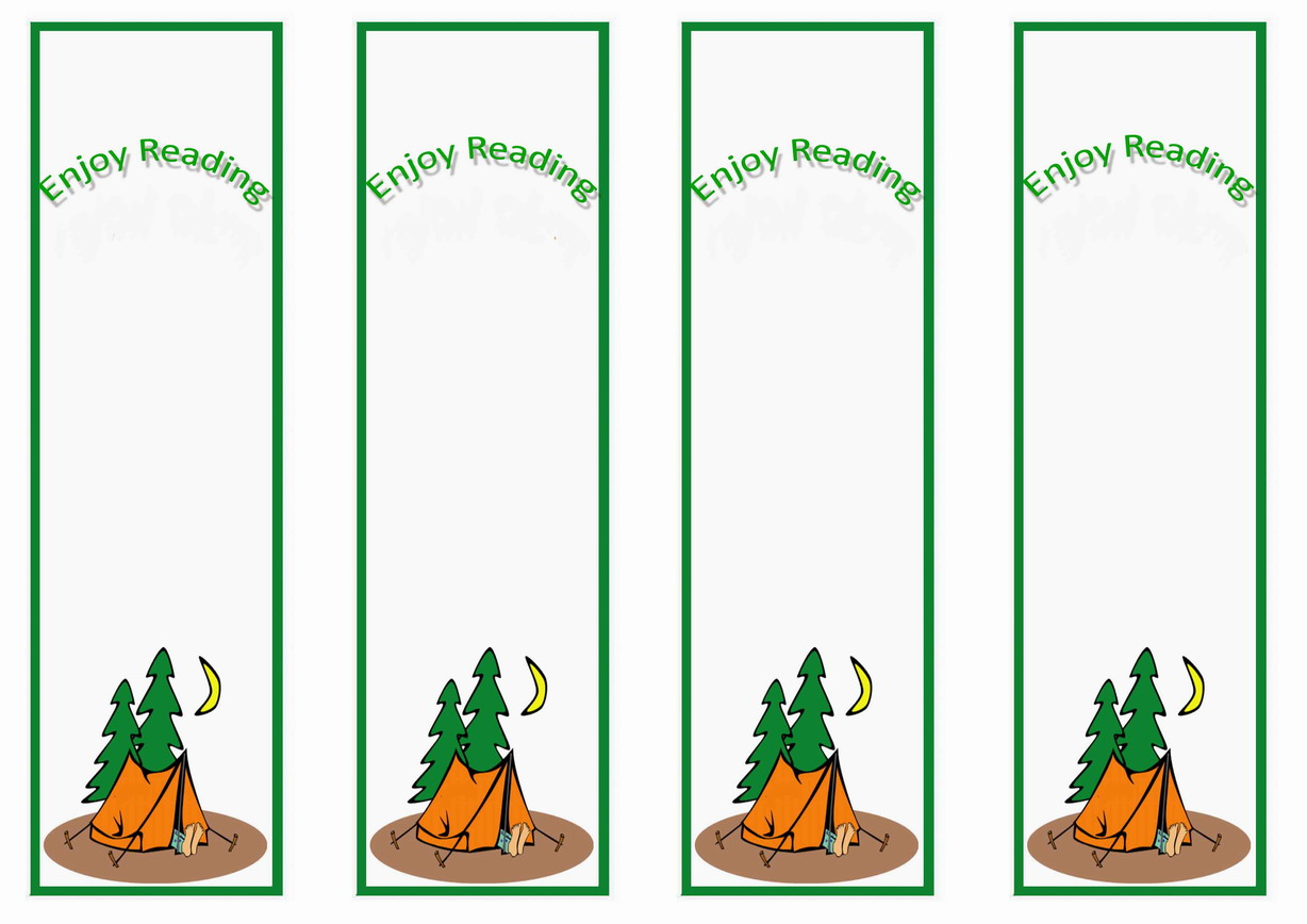 Camping Bookmarks