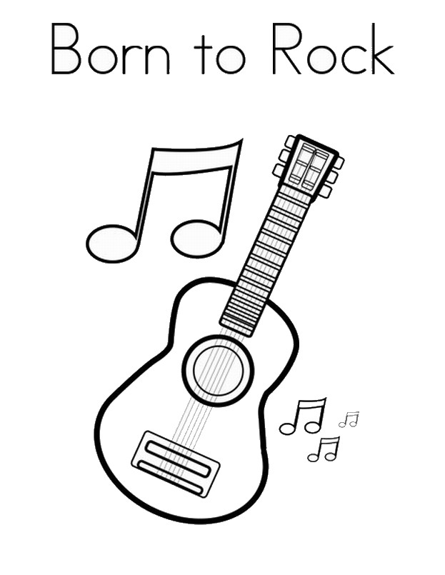 rock star coloring pages birthday printable