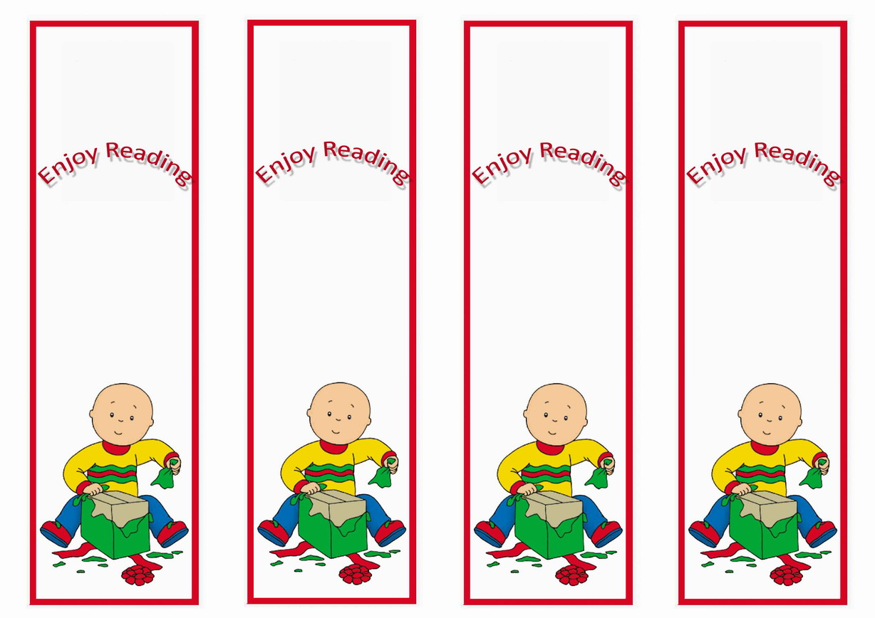 Caillou Bookmarks