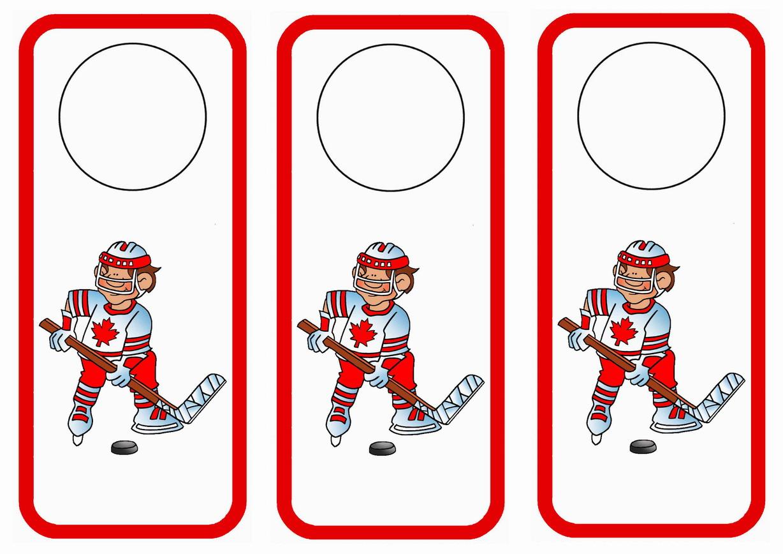 Hockey Door Hangers
