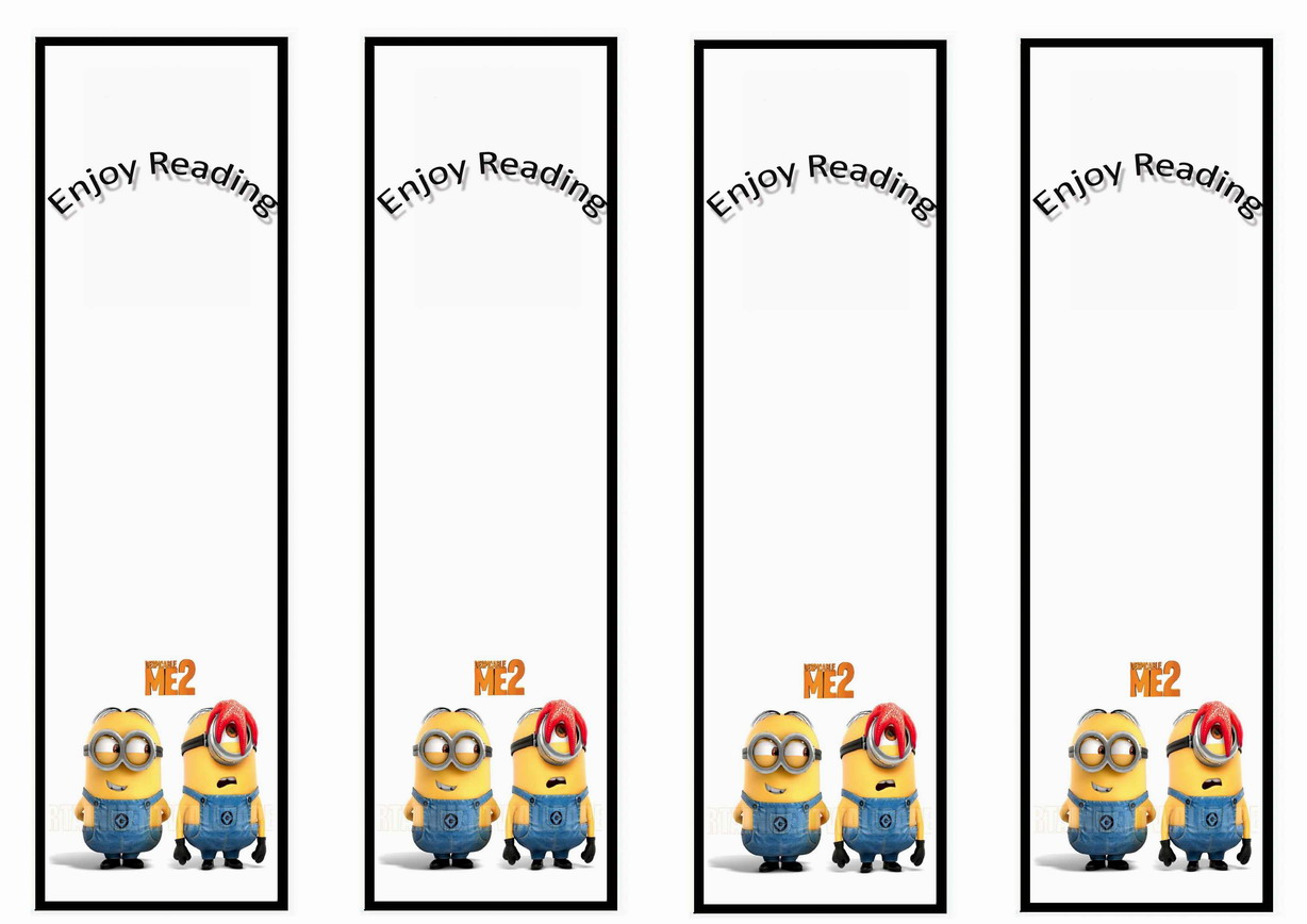despicable me bookmarks birthday printable