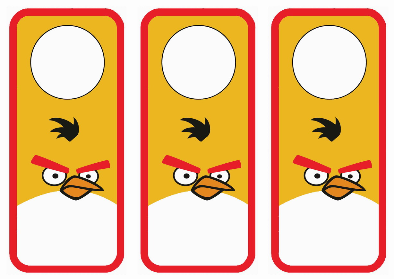 Angry Birds Door Hangers