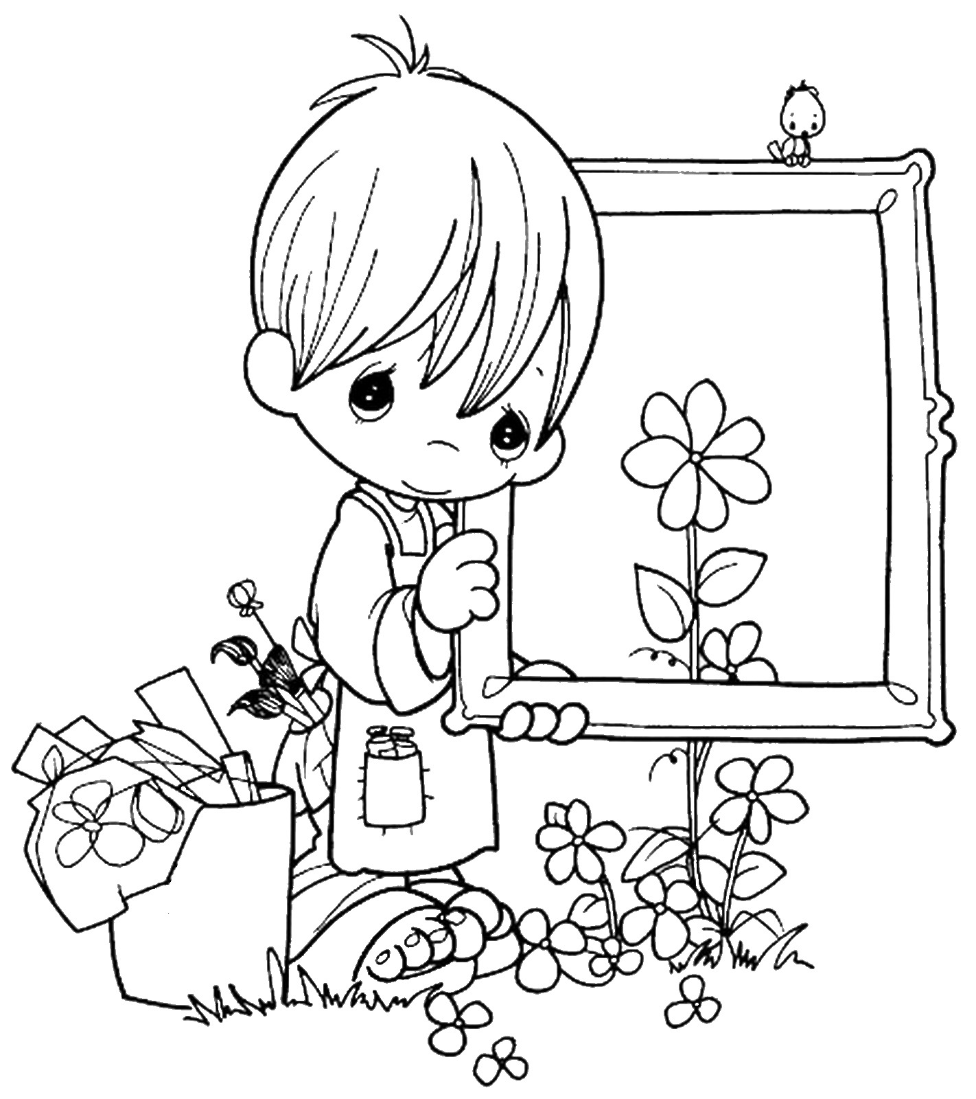 Art Amp Craft Coloring Pages