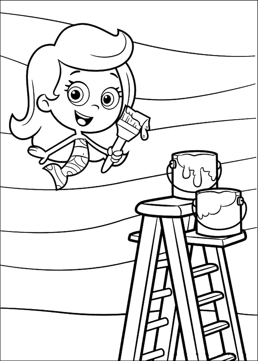 Bubble Guppies Coloring Pages Birthday Printable