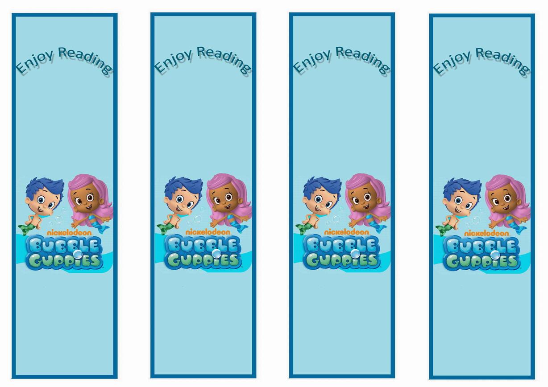 Bubble Guppies Bookmarks Birthday Printable