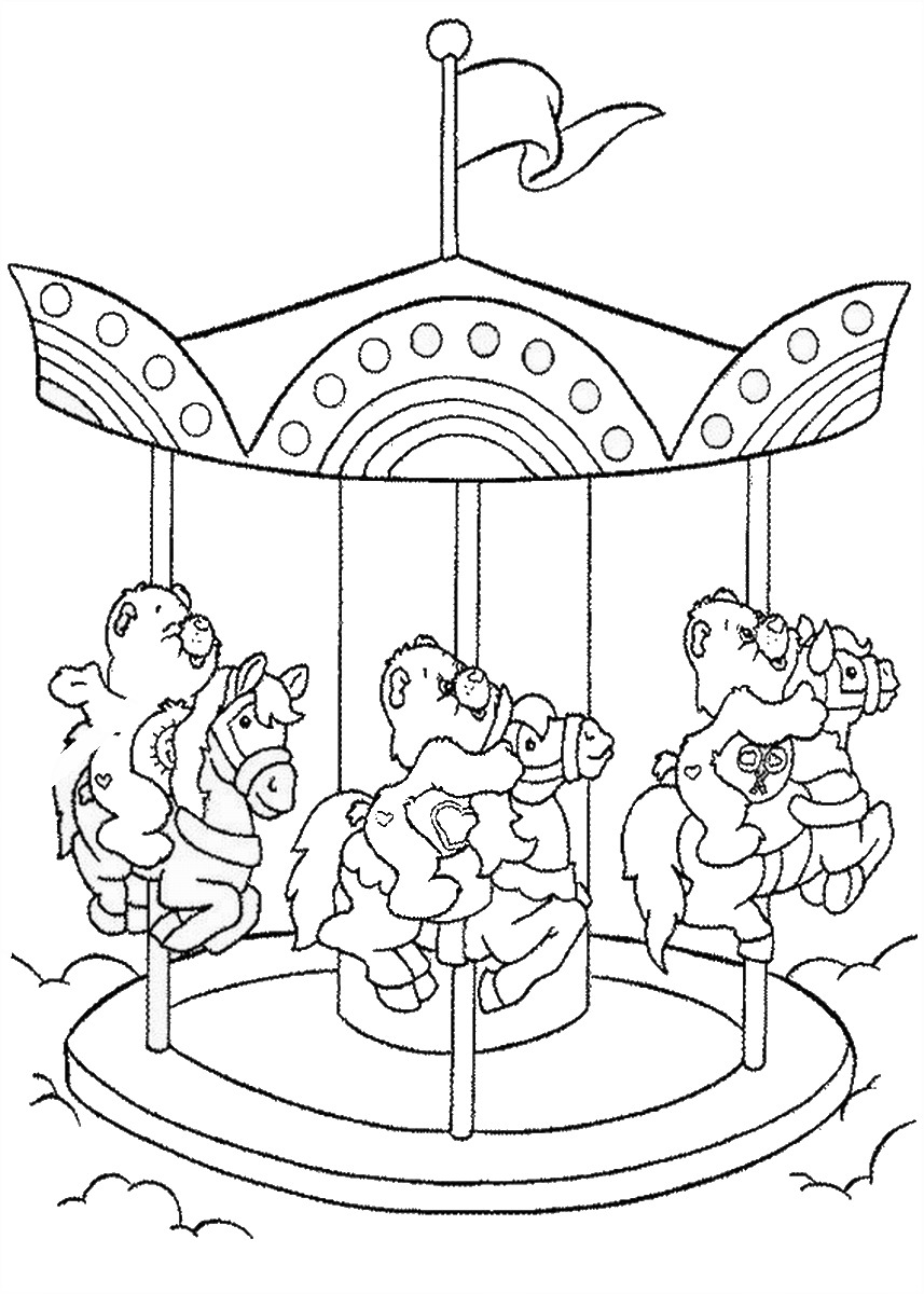bear coloring pages punk rock on care bears birthday coloring pages