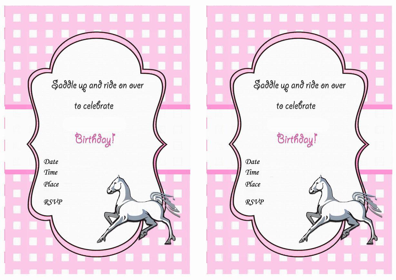 horse birthday invitations birthday