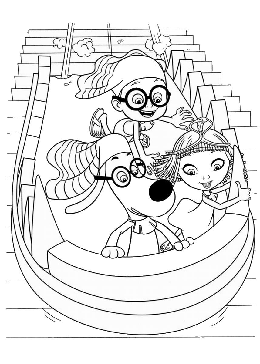 Mr Peabody And Sherman Coloring Pages Birthday Printable