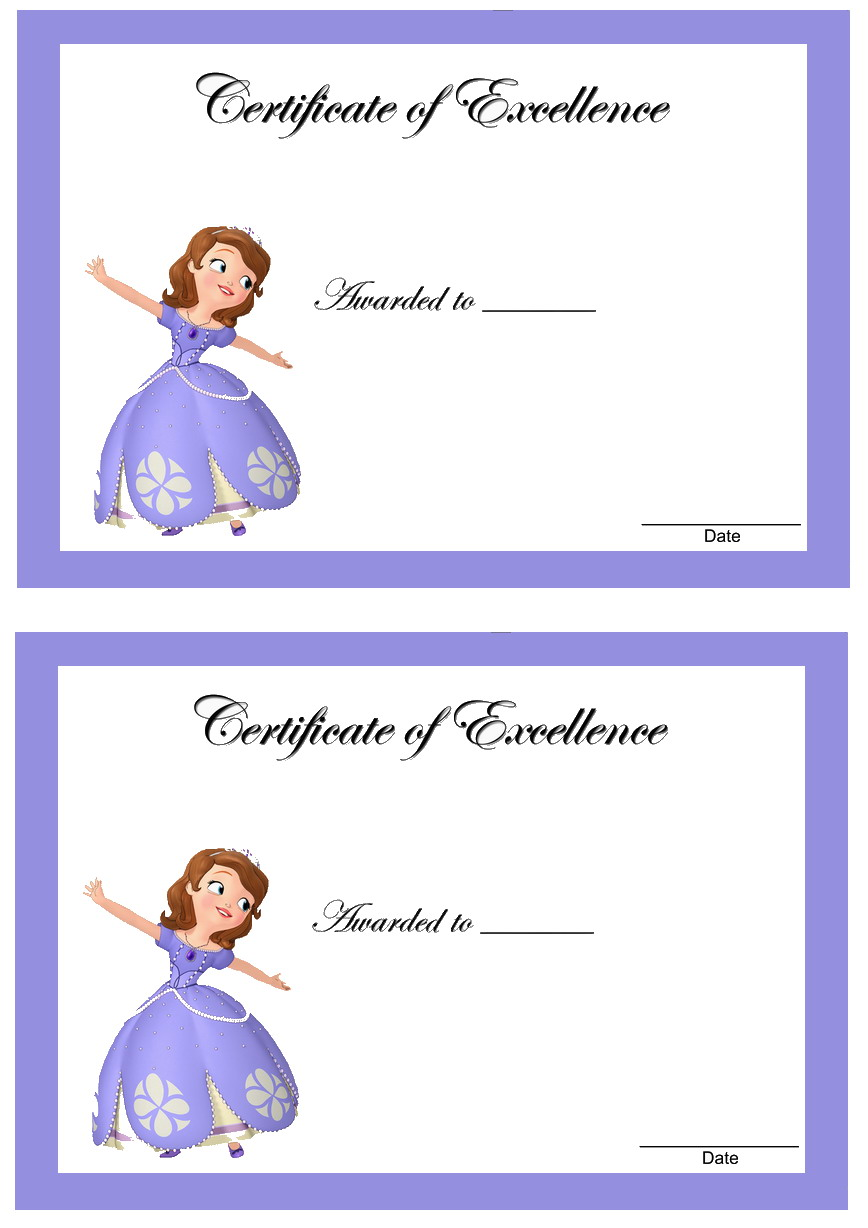 Sofia first awards birthday printable, love printable coloring pages