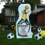 Champagne Bottle by BirthdaySigns.ca