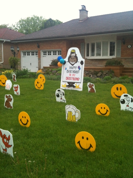 Birthday Lawn Signs Lawn Greetings Lawn Decorations Lawn Laughs
