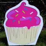 Cupcake Lawn Ornament