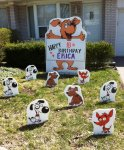 Dog Lawn Sign with Puppy Dog Lawn Ornaments