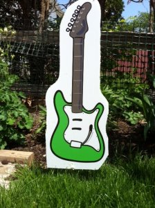 Electric Guitar Lawn Ornament