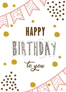 happy birthday to you simple images