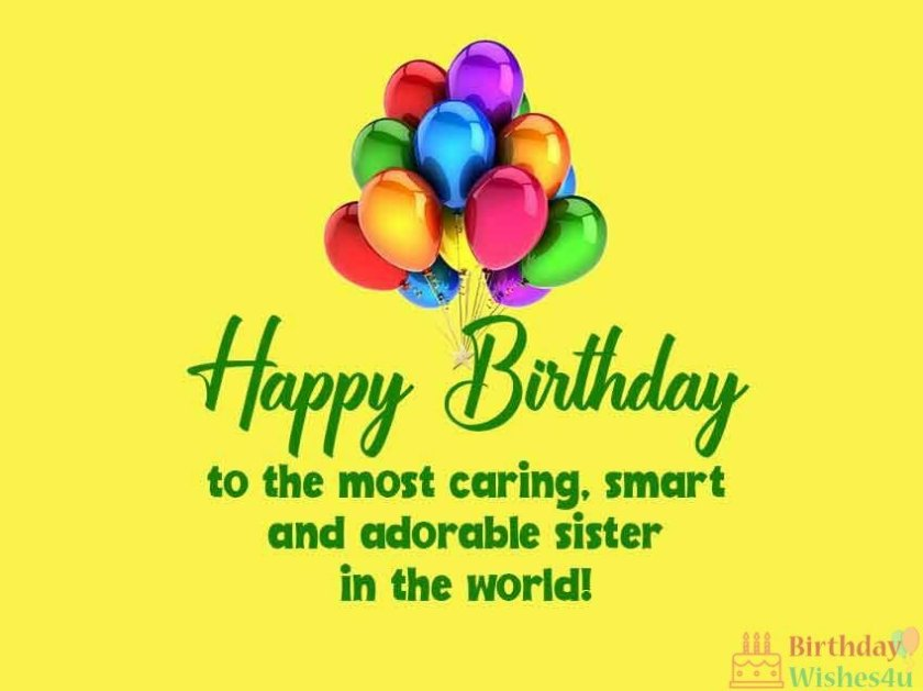 Happy Birthday Wishes For Sister in Hindi