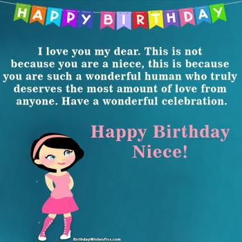 Beautiful Happy Birthday Wishes For Niece With Images