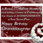 50+ Birthday Wishes For Grand Daughter 2016