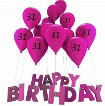 Happy 31st Birthday Wishes Best 31st Birthday Greetings Birthday Wishes Zone