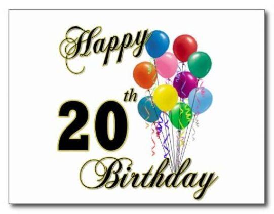 Happy 20th Birthday Images