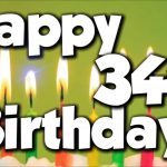 Happy 34th Birthday Wishes | Best 34th Birthday Greetings