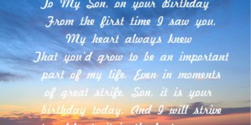 Birthday Poem For Son