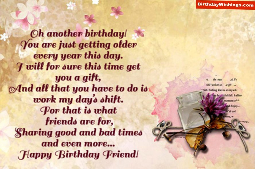 birthday poem for friend birthdaywishings com