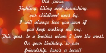 Birthday Poem For Brother