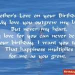 birthday Wish From Mother