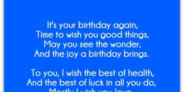 Best Wishes For Birthday | Birthday Poem