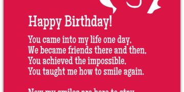 Birthday Poem For Best Friend